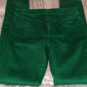 Seven for all mankind Green jean.